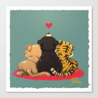 best friends Canvas Prints featuring Best Friends by Patara