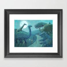 Summer Park - Night Framed Art Print