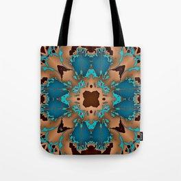 Brown Blue Azalea 1 Tote Bag