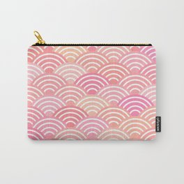 dragon fish scales simple pattern Nature background with japanese wave Carry-All Pouch