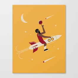 Houston Basketball Canvas Print