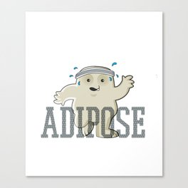 Working Off My Adipose Canvas Print