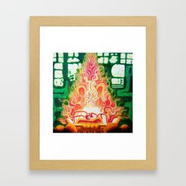 Spirit in Flames Framed Art Print