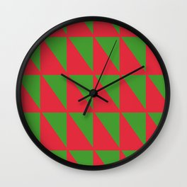 Holiday Geometry Wall Clock