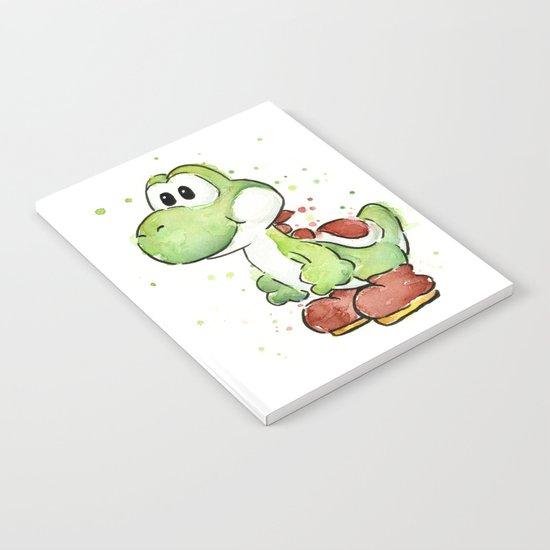 Yoshi Watercolor Mario Notebook