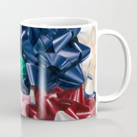 bows Mugs featuring Christmas Bows by Jessica Gawinski