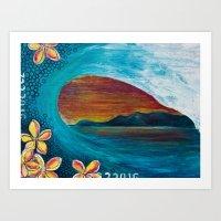 Sunset Tunnel Art Print