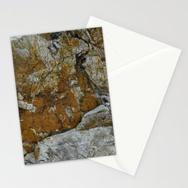 Cornish Headland Cracked Rock Texture with Lichen Stationery Cards