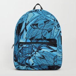Blue Floral Girly Summer Goth Print Backpack