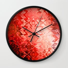 Edged Momentum (mystic scarlet) Wall Clock