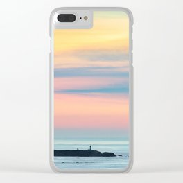 Sunset Overlooking the Yaquina Head Lighthouse Clear iPhone Case