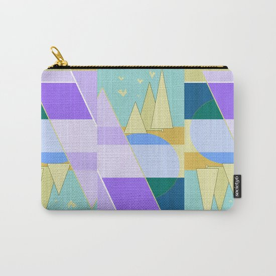 Abstraction in purple and blue colors .  Carry-All Pouch