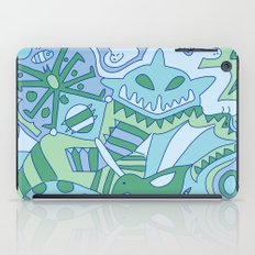 Abstract Animals - Blue and Green  iPad Case