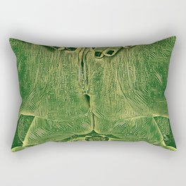 9978s-KD Self Love Explicit Naked Motherboard Fine Art Nude Creative Tech Rectangular Pillow