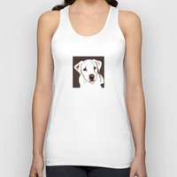 golden retriever Tank Tops featuring Golden retriever by Pendientera