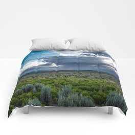 Desert Rain - Summer Thunderstorms Near Taos New Mexico Comforters