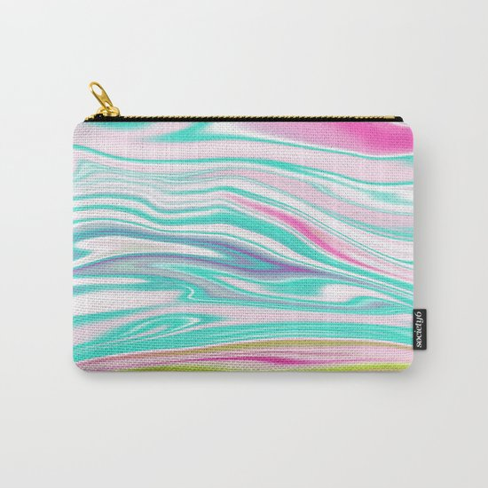 Iridescent Marble 12 Carry-All Pouch