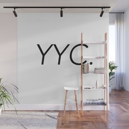 YYC City Code - Calgary Wall Mural