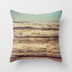 Ocean Waves - Blue Sea Sky in California Throw Pillow