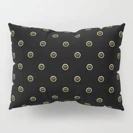 """Karma"" Chinese Calligraphy on Golden Coins Pillow Sham"
