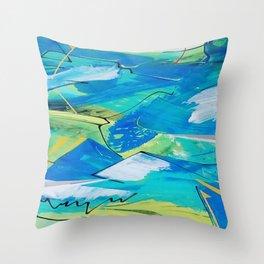 Blue Winds Throw Pillow