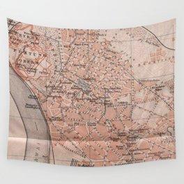 Vintage Map of Belgrade Serbia (1905) Wall Tapestry