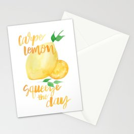 Carpe Lemon : Squeeze the Day Stationery Cards