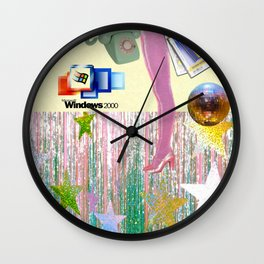 Night in or night out Wall Clock