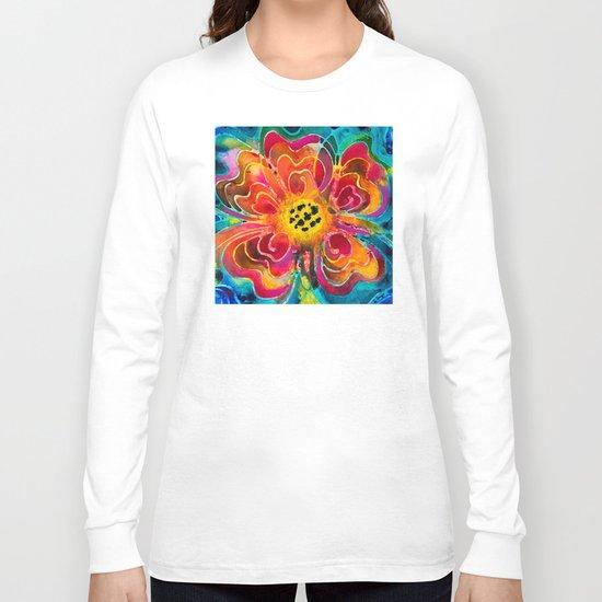 Summer Love Flower Art By Sharon Cummings Long Sleeve T-shirt