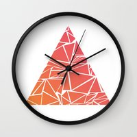 pyramid Wall Clocks featuring Pyramid by Mariam Calitri
