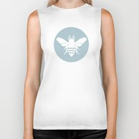 snow Biker Tanks featuring Snow by Lídia Vives