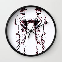 robots Wall Clocks featuring - robots - by Digital Fresto