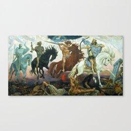 Four Horsemen of Apocalypse by Viktor Vasnetsov (1887) Canvas Print