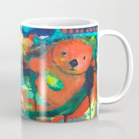 otter Mugs featuring Otter by Silke Powers