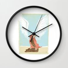 All Dogs Go to Heaven (Golden Retriever) Wall Clock