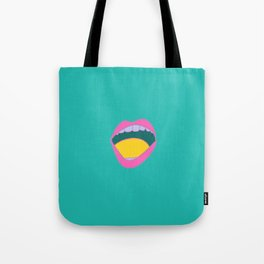 mouth grooves Tote Bag