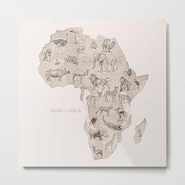Africa (Fauna) Metal Print