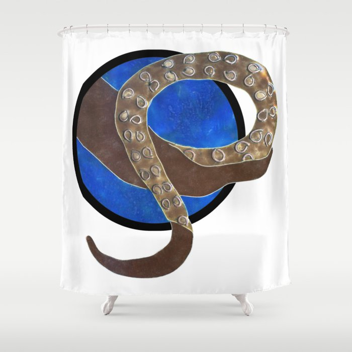 Creature of Water (porthole edit) Shower Curtain