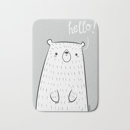 hello little bear Bath Mat