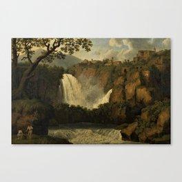 Waterfalls of Tivoli, Lazio, Italy by Jakob Philipp Hackert Canvas Print