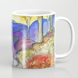 Autumn Landscape, After Tiffany Coffee Mug