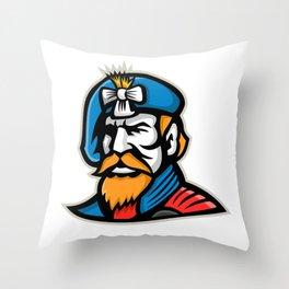 Highlander Mascot Throw Pillow