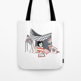 blanket fort Tote Bag