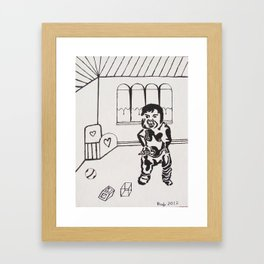 """ I Want My Milk "" Framed Art Print"
