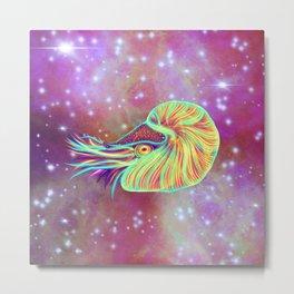 The Cosmic Space Nautilus Metal Print