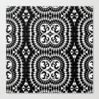 om Canvas Prints featuring Om by MandalaHealingArt