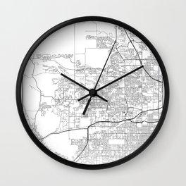 Minimal City Maps - Map Of Arvada, Colorado, United States Wall Clock