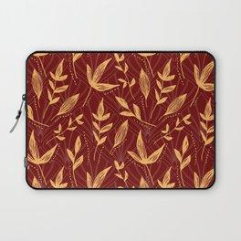 Orange Gold Red Leaves Pattern Laptop Sleeve
