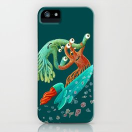 Surfing Monsters iPhone Case