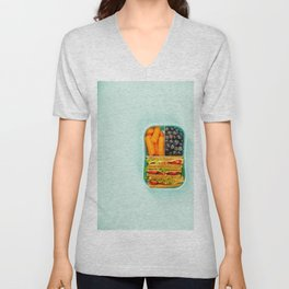 Healthy lunch in a box Unisex V-Neck